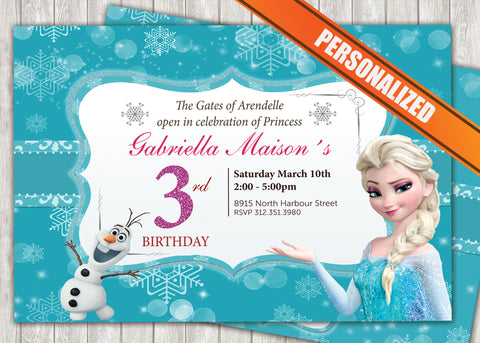 Frozen Greeting Card PC016 - Digital Paper Shop - 1