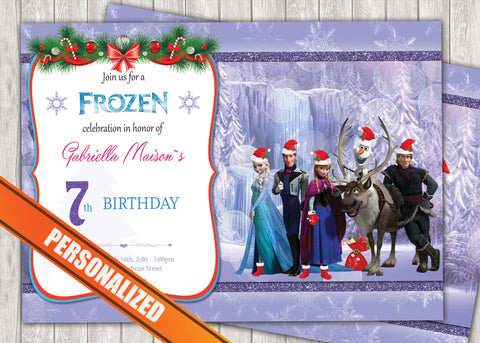 Frozen Greeting Card PC024 - Digital Paper Shop - 1