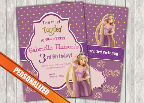 Tangled Greeting Card PC031 - Digital Paper Shop - 1