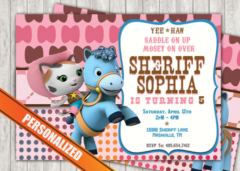 Sheriff Callie Greeting Card Pc035 Digital Paper Shop