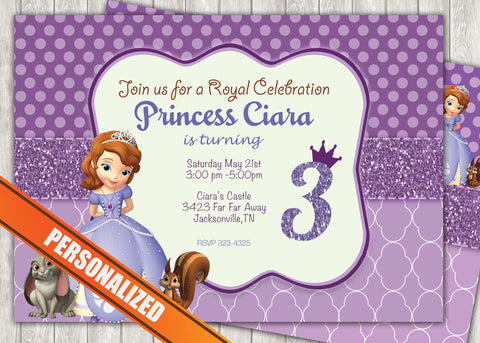 Princess Sofia Greeting Card PC038 - Digital Paper Shop - 1