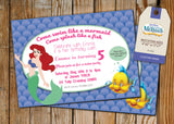 Little Mermaid Greeting Card PC048 - Digital Paper Shop - 2