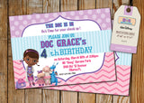 Doc McStuffins Greeting Card PC073 - Digital Paper Shop - 2