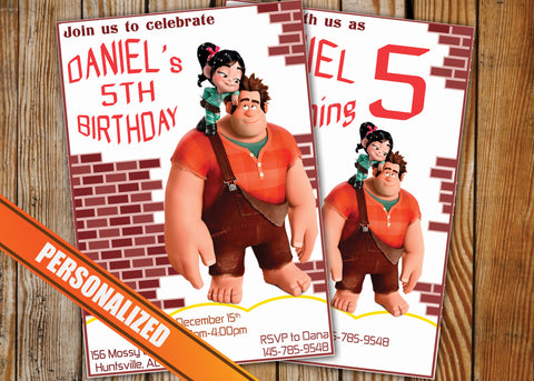 Wreck It Ralph Greeting Card PC132 - Digital Paper Shop - 1