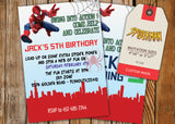 Spiderman Greeting Card PC139 - Digital Paper Shop - 2