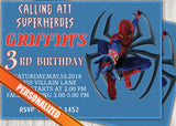 Spiderman Greeting Card PC144 - Digital Paper Shop - 1