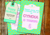 Birthday Greeting Card PC187 - Digital Paper Shop - 3