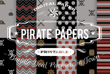 Digital Papers - Pirate Papers Bundle Deal - Digital Paper Shop