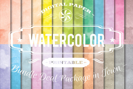 Digital Papers - Watercolor Papers Bundle Deal - Digital Paper Shop