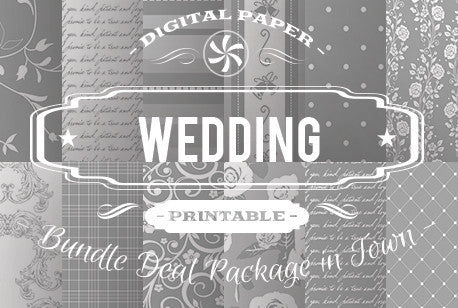 Digital Papers - Wedding Papers Bundle Deal - Digital Paper Shop
