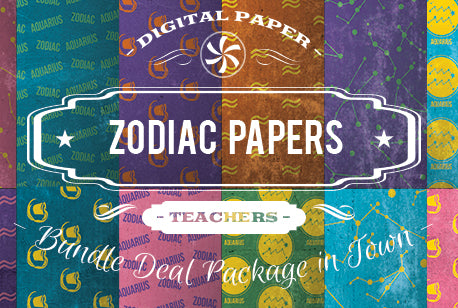 Digital Papers - Zodiac Papers Bundle Deal