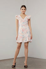 Load image into Gallery viewer, UTOPIA FLORA RUFFLE SLEEVE DRESS
