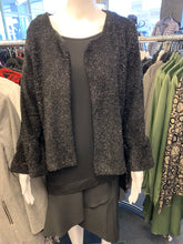 Load image into Gallery viewer, LS Black Sparkle Evening Cardi
