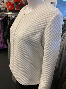 LS White Zip Up Top