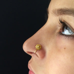 Bloem nose pin