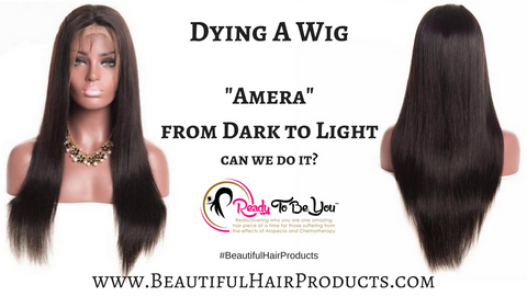 "Dying A Wig | ""Amera"" From Dark to Light Auburn"