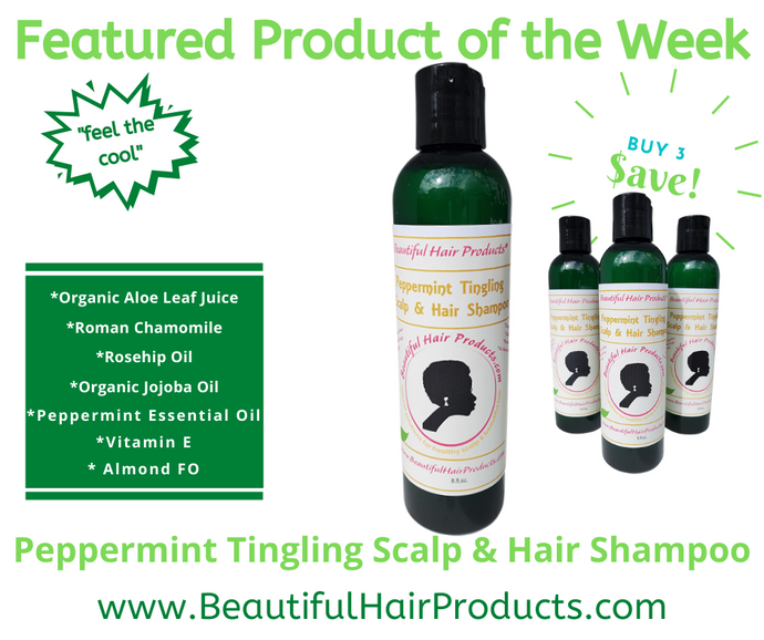 Peppermint Tingling Scalp & Hair Shampoo | Featured Product of the Week