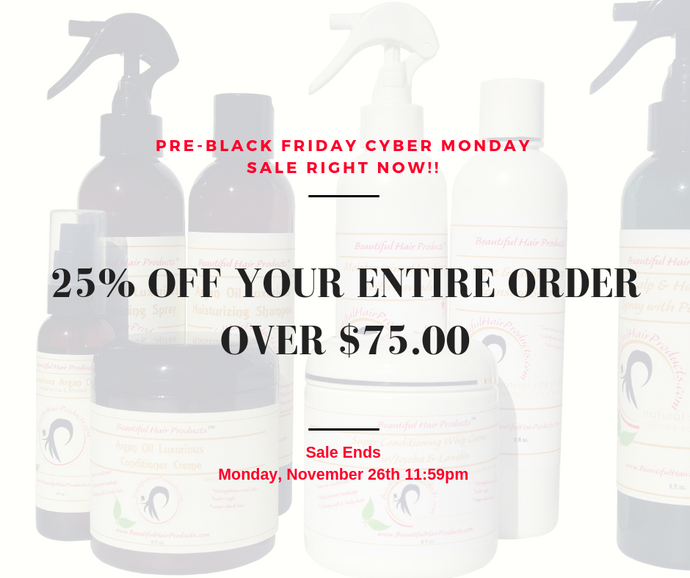 Pre Black Friday Cyber Monday Sale On Beautiful Hair Products