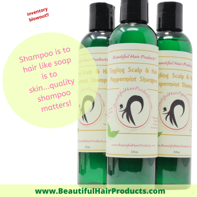 Peppermint Shampoo for Dry Scalp & Hair --BLOW-OUT!