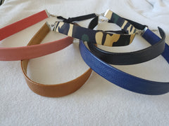 leatherette hair bands