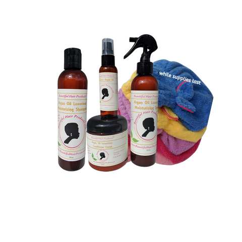 argan oil lux collection + towel cap