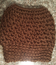 messy bun crochet hat