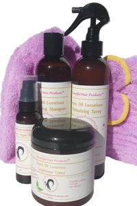 Argan Oil Set +Purple Towel cap