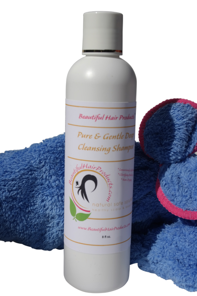 Shampoo | Pure & Gentle Deep Cleansing Shampoo + Towel Cap