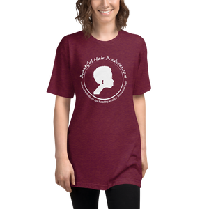 tri-blend track t-shirt women cranberry