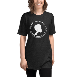 tri-blend track t-shirt women black