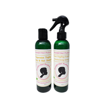 peppermint hair spray and peppermint shampoo
