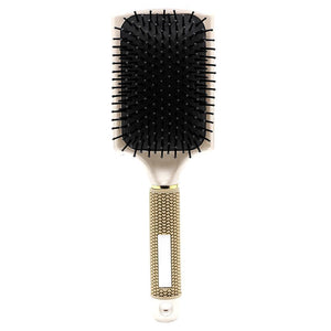 Hair Brush | High Quality Professional Rubber Handle Paddle Hairbrush