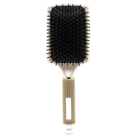 High Quality Professional Rubber Handle Paddle Hairbrush No Slip For Human And Wig Hair Styling