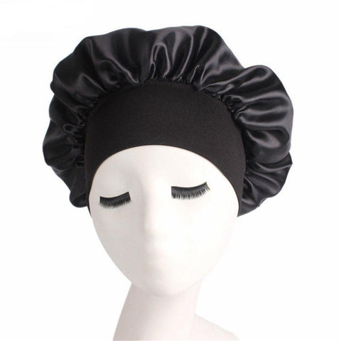 Wide-Band Satin Bonnet Cap Save Your Hairstyle (wig)