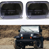 "Pair 30W 5"" x 7"" Rectangular LED For Ford GM Van Jeep XJ YJ Headlights 7 inch"