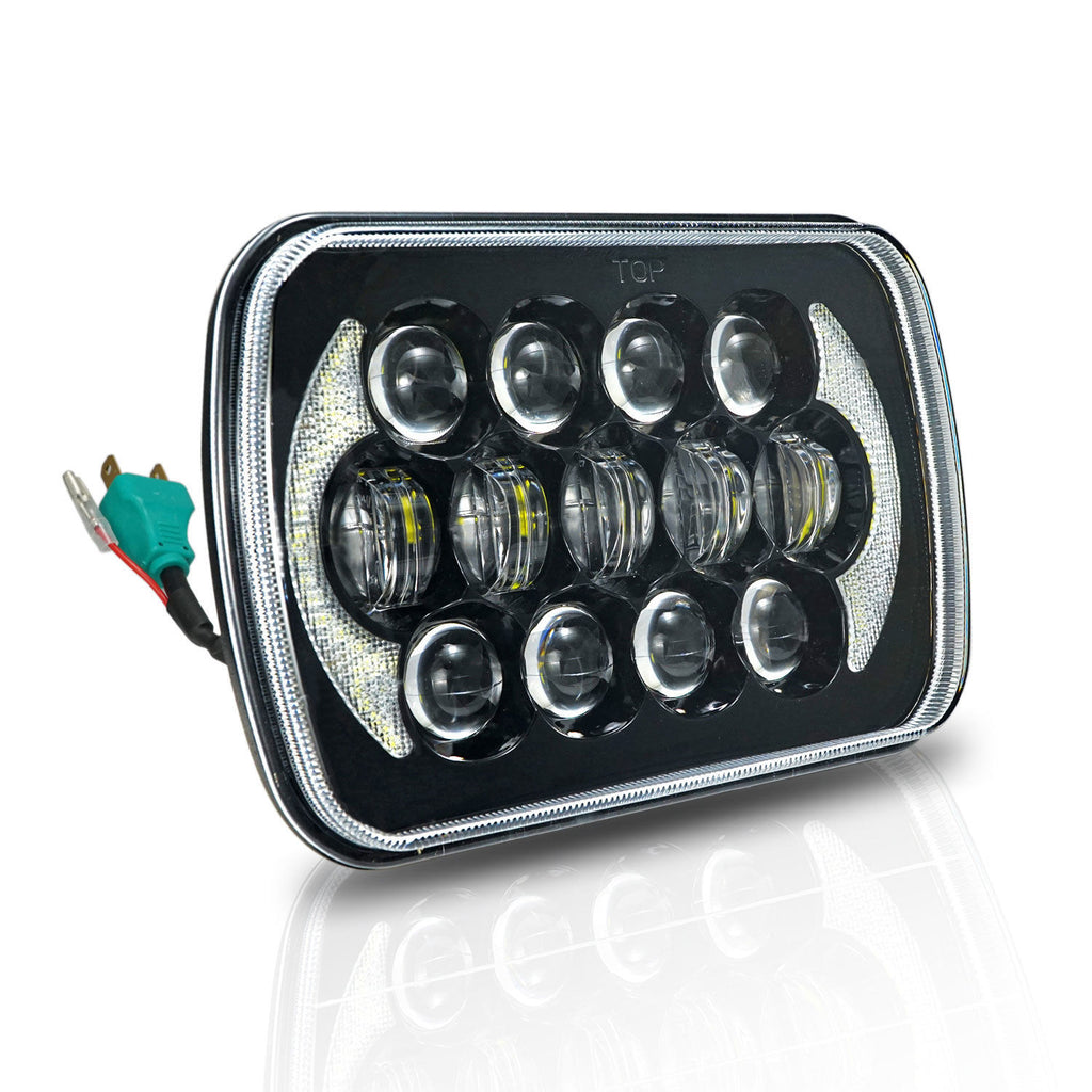 2x Projector Led 5x7 U0026quot  Led Headlight Replacement For Jeep Cherokee Xj T  U2013 Offroad Auto Parts