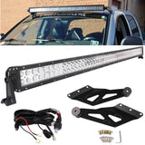 50inch Curved Off Road 288W CREE LED Light Bar Chevy GMC 99-06 RELAY+Bracket