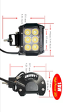 1X 300W LED LIGHT + 2X 18W SPOT OSRAM LED WORK LIGHT + MOUNTING ACCESSORIES ( WIRING KIT + BRACKETS ) FOR JEEP WRANGLER TJ