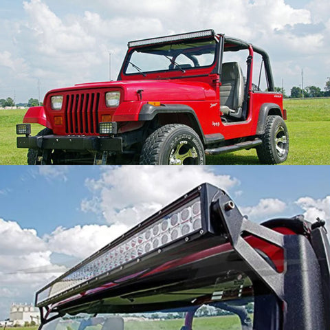 50 Quot Light Bar Brackets And Wiring Kit For 1987 1995 Jeep