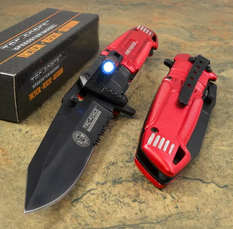 Tac-Force RED FireFighter LED Spring
