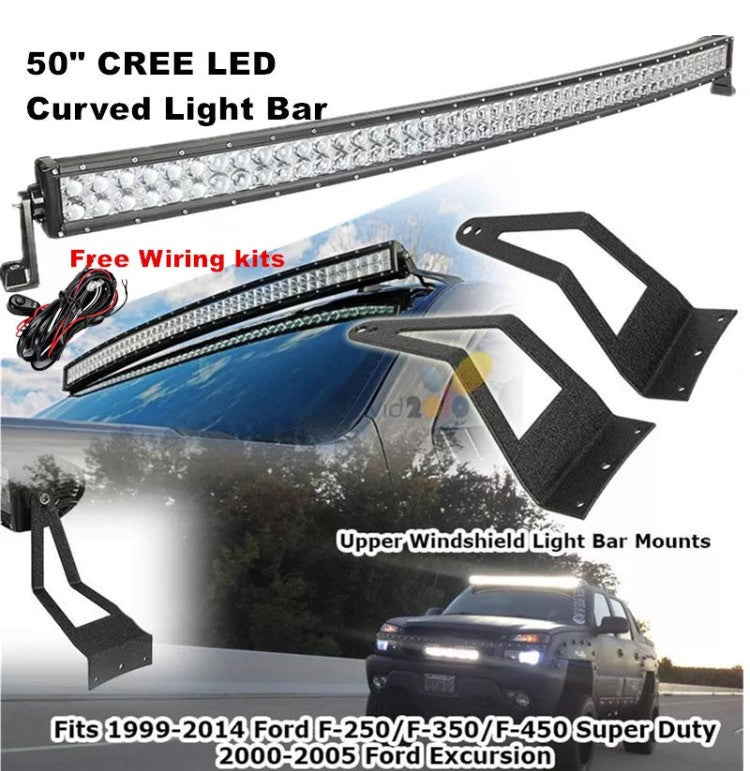 Inch Curved Off Road W Cree Led Light Bar Ford F Relay