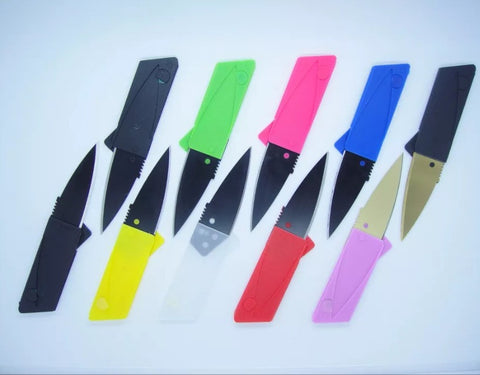 Credit card Knives multi colors