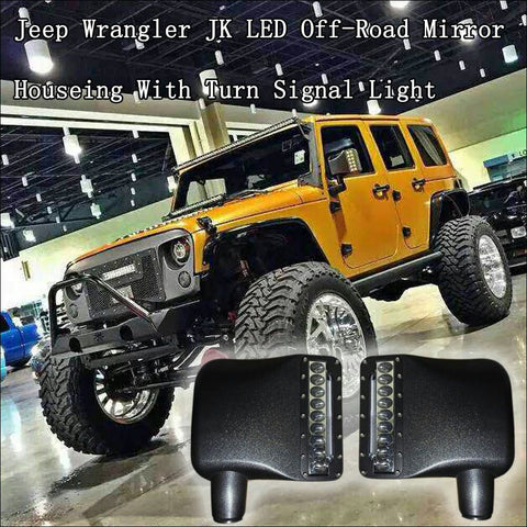 For Jeep Jk 1 Pair Of Led Mirrors 50