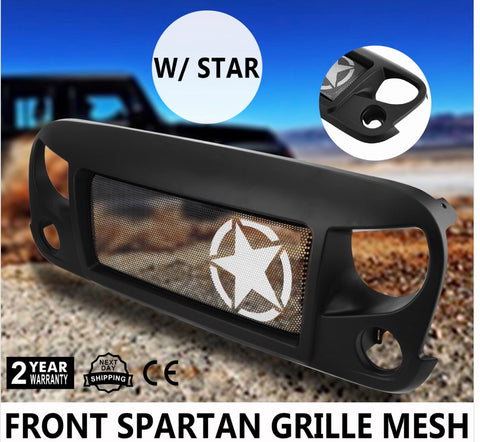 2007-2018 Jeep Wrangler JK Front Spartan Grille Mesh w/Star Insert