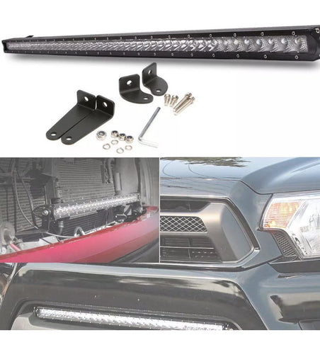 250W 50 51 inch CREE Single Row Light Bar Combo Jeep Wrangler JK LJ CJ Ford F150