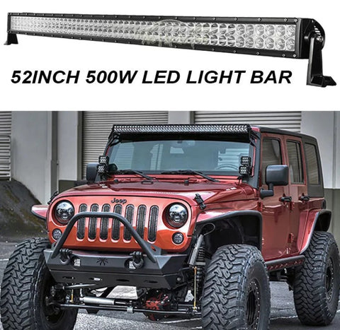 500W PHILIPS 52INCH LED WORK LIGHT BAR SPOT&FLOOD