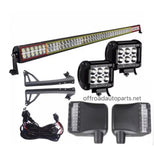 "For jeep jk 1 pair of led mirrors & 50"" led light bar including 2 18w led pods"