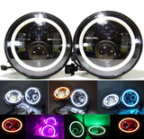 Pair (2) Bluetooth APP color changing led halo led headlights