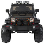 Jeep Style 12V Ride On Car Truck W/ Remote Control, 3 Speeds, Spring Suspension, LED Lights,