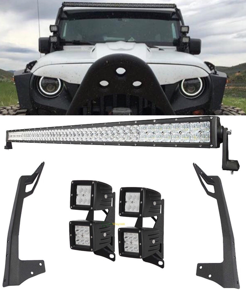For jk 52 300w 700w light bar 4 double stack 18w led pods with for jk 52 300w 700w light bar 4 double stack 18w led pods with aloadofball Choice Image